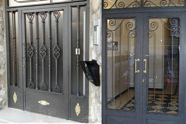 instalar puertas de hierro